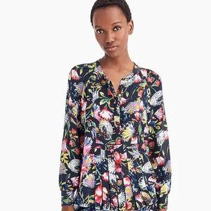 J.crew size S floral 100% blouse